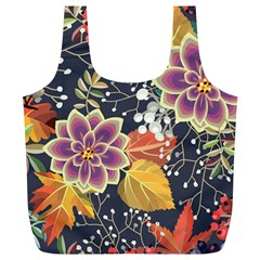 Autumn Flowers Pattern 10 Full Print Recycle Bags (l)  by tarastyle