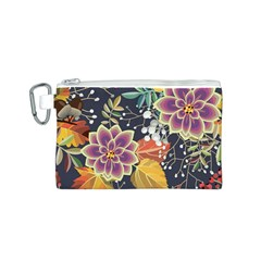 Autumn Flowers Pattern 10 Canvas Cosmetic Bag (s) by tarastyle