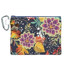 Autumn Flowers Pattern 10 Canvas Cosmetic Bag (xl) by tarastyle