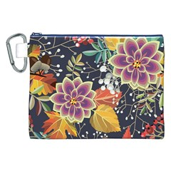 Autumn Flowers Pattern 10 Canvas Cosmetic Bag (xxl) by tarastyle