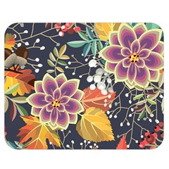 Autumn Flowers Pattern 10 Double Sided Flano Blanket (medium)  by tarastyle