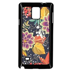 Autumn Flowers Pattern 10 Samsung Galaxy Note 4 Case (black) by tarastyle