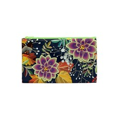 Autumn Flowers Pattern 10 Cosmetic Bag (xs) by tarastyle