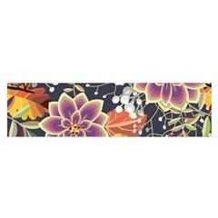 Autumn Flowers Pattern 10 Satin Scarf (oblong)