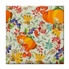Autumn Flowers Pattern 11 Tile Coasters by tarastyle