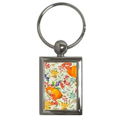 Autumn Flowers Pattern 11 Key Chains (rectangle)  by tarastyle