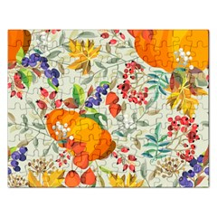 Autumn Flowers Pattern 11 Rectangular Jigsaw Puzzl by tarastyle