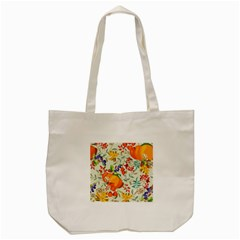 Autumn Flowers Pattern 11 Tote Bag (cream) by tarastyle