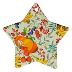 Autumn Flowers Pattern 11 Star Ornament (two Sides) by tarastyle
