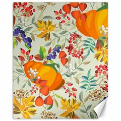 Autumn Flowers Pattern 11 Canvas 11  X 14   by tarastyle