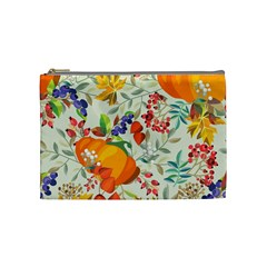 Autumn Flowers Pattern 11 Cosmetic Bag (medium)  by tarastyle