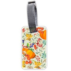 Autumn Flowers Pattern 11 Luggage Tags (two Sides) by tarastyle