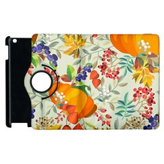 Autumn Flowers Pattern 11 Apple Ipad 3/4 Flip 360 Case by tarastyle