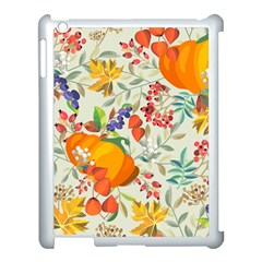Autumn Flowers Pattern 11 Apple Ipad 3/4 Case (white) by tarastyle
