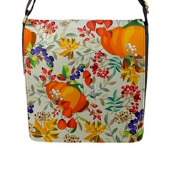 Autumn Flowers Pattern 11 Flap Messenger Bag (l)  by tarastyle