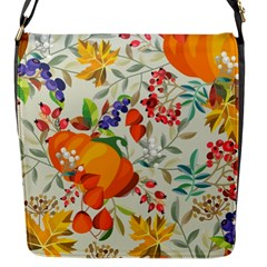 Autumn Flowers Pattern 11 Flap Messenger Bag (s) by tarastyle
