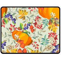 Autumn Flowers Pattern 11 Double Sided Fleece Blanket (medium)  by tarastyle