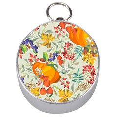 Autumn Flowers Pattern 11 Silver Compasses by tarastyle