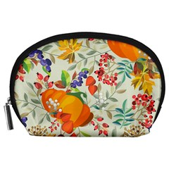 Autumn Flowers Pattern 11 Accessory Pouches (large)  by tarastyle