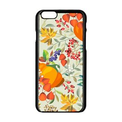Autumn Flowers Pattern 11 Apple Iphone 6/6s Black Enamel Case by tarastyle