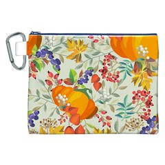 Autumn Flowers Pattern 11 Canvas Cosmetic Bag (xxl) by tarastyle