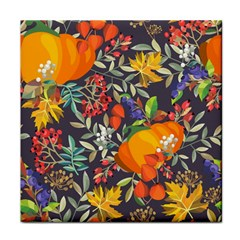 Autumn Flowers Pattern 12 Tile Coasters by tarastyle
