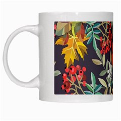 Autumn Flowers Pattern 12 White Mugs by tarastyle