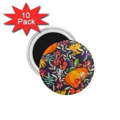 Autumn Flowers Pattern 12 1 75  Magnets (10 Pack)  by tarastyle