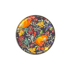 Autumn Flowers Pattern 12 Hat Clip Ball Marker (4 Pack) by tarastyle