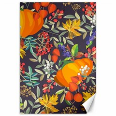 Autumn Flowers Pattern 12 Canvas 12  X 18   by tarastyle