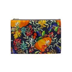 Autumn Flowers Pattern 12 Cosmetic Bag (medium)  by tarastyle