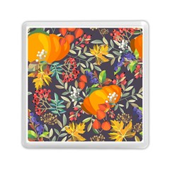 Autumn Flowers Pattern 12 Memory Card Reader (square)  by tarastyle