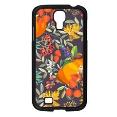 Autumn Flowers Pattern 12 Samsung Galaxy S4 I9500/ I9505 Case (black) by tarastyle