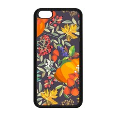 Autumn Flowers Pattern 12 Apple Iphone 5c Seamless Case (black) by tarastyle