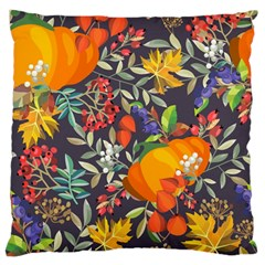 Autumn Flowers Pattern 12 Large Flano Cushion Case (one Side) by tarastyle