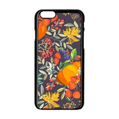 Autumn Flowers Pattern 12 Apple Iphone 6/6s Black Enamel Case by tarastyle