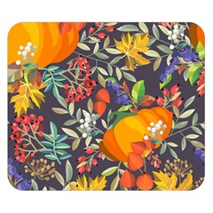 Autumn Flowers Pattern 12 Double Sided Flano Blanket (small)  by tarastyle