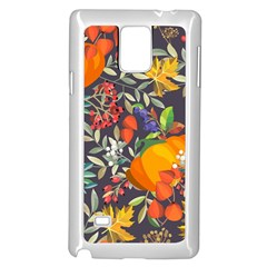 Autumn Flowers Pattern 12 Samsung Galaxy Note 4 Case (white) by tarastyle