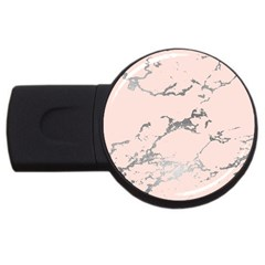 Luxurious Pink Marble 1 Usb Flash Drive Round (4 Gb) by tarastyle