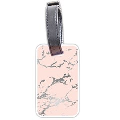 Luxurious Pink Marble 1 Luggage Tags (one Side)  by tarastyle