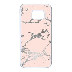 Luxurious Pink Marble 1 Samsung Galaxy S7 White Seamless Case