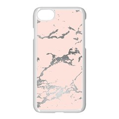 Luxurious Pink Marble 1 Apple Iphone 7 Seamless Case (white) by tarastyle