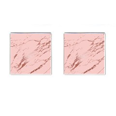 Luxurious Pink Marble 3 Cufflinks (square) by tarastyle