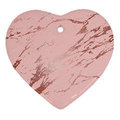 Luxurious Pink Marble 3 Heart Ornament (two Sides) by tarastyle