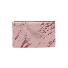 Luxurious Pink Marble 3 Cosmetic Bag (small)  by tarastyle