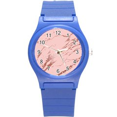 Luxurious Pink Marble 3 Round Plastic Sport Watch (s) by tarastyle