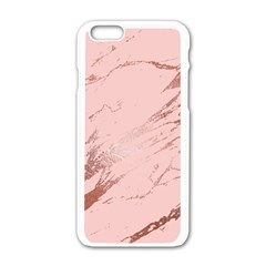 Luxurious Pink Marble 3 Apple Iphone 6/6s White Enamel Case by tarastyle