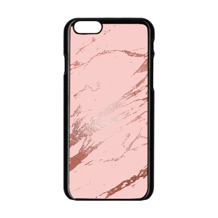 Luxurious Pink Marble 3 Apple iPhone 6/6S Black Enamel Case