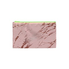 Luxurious Pink Marble 3 Cosmetic Bag (xs) by tarastyle