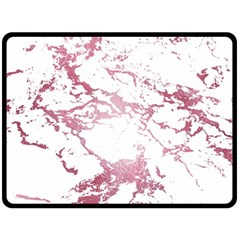 Luxurious Pink Marble 4 Double Sided Fleece Blanket (large)  by tarastyle
